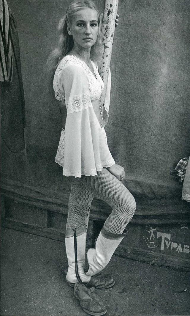 Артистка цирка, конец 1980-х. Фотограф Ляля Кузнецова