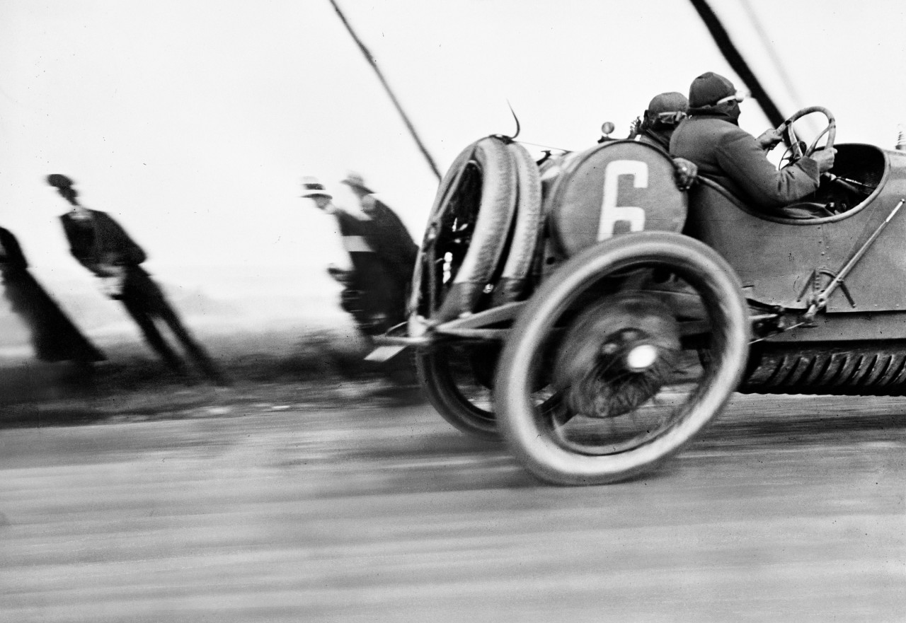 Гран-при автомобильного клуба Франции, Дьеп, 1912. Фотограф Жак Анри Лартиг