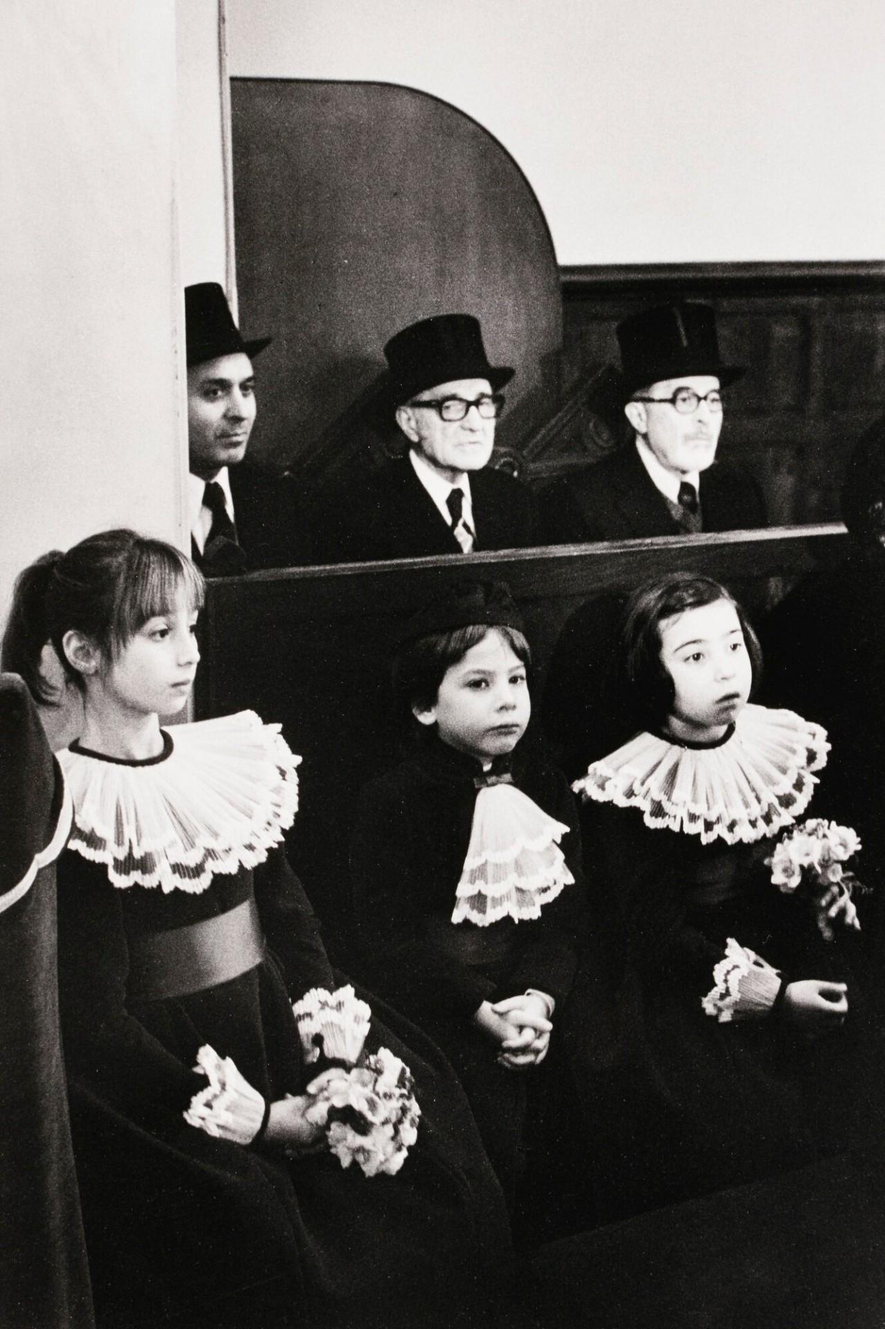 Свадьба в синагоге, 1977. Фотограф Мартина Франк