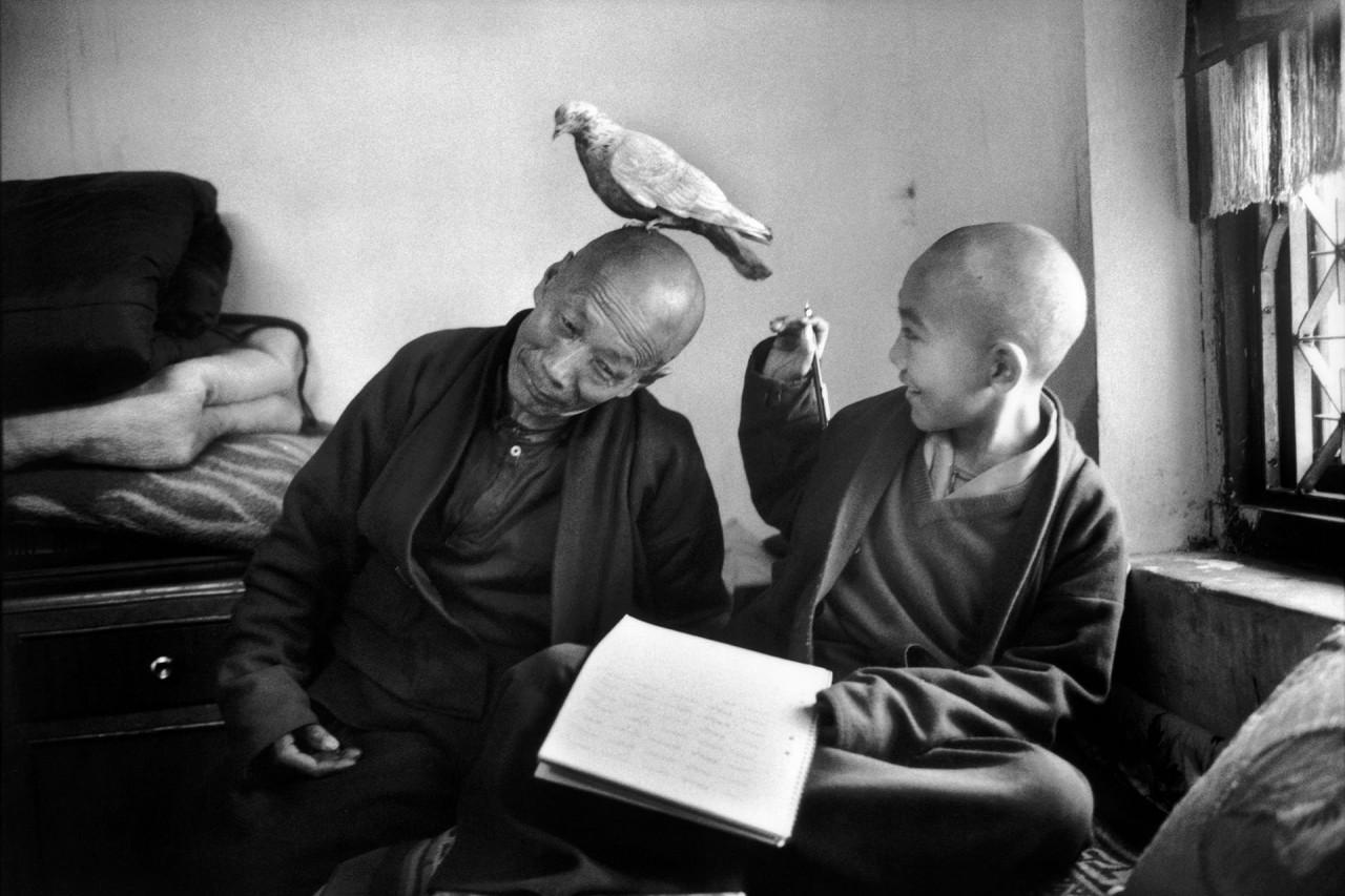 В монастыре Шечен, Непал, 1996. Фотограф Мартина Франк