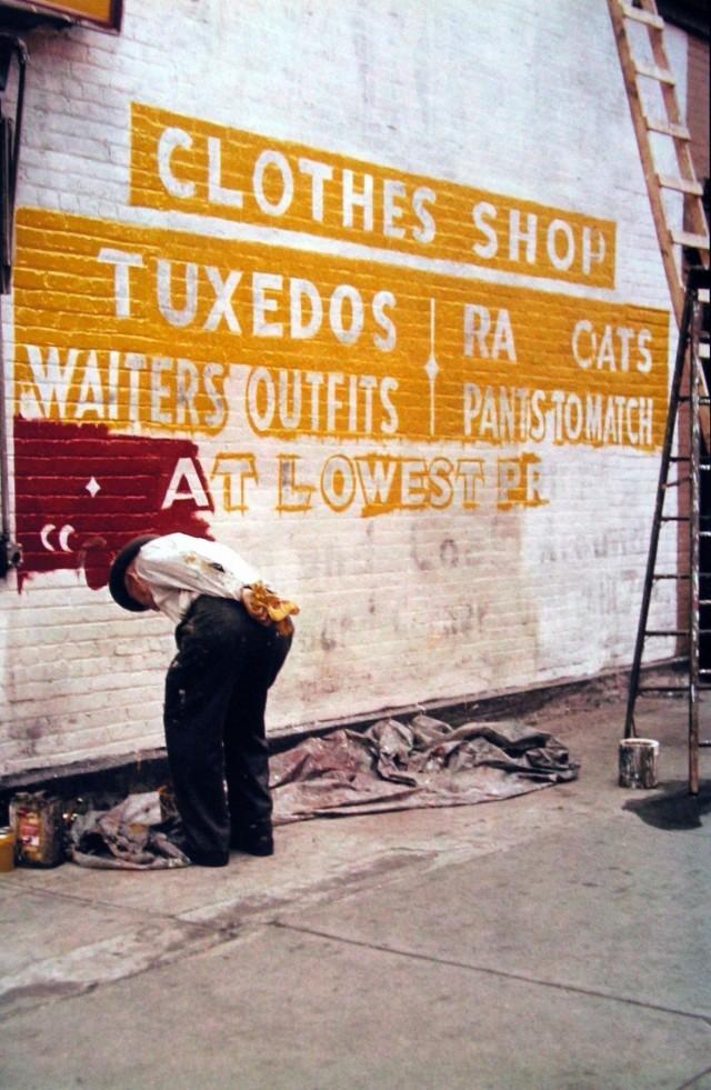Рисовальщик вывесок, 1954. Фотограф Сол Лейтер