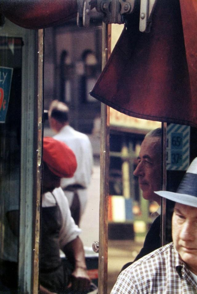 Отражение, 1958. Фотограф Сол Лейтер