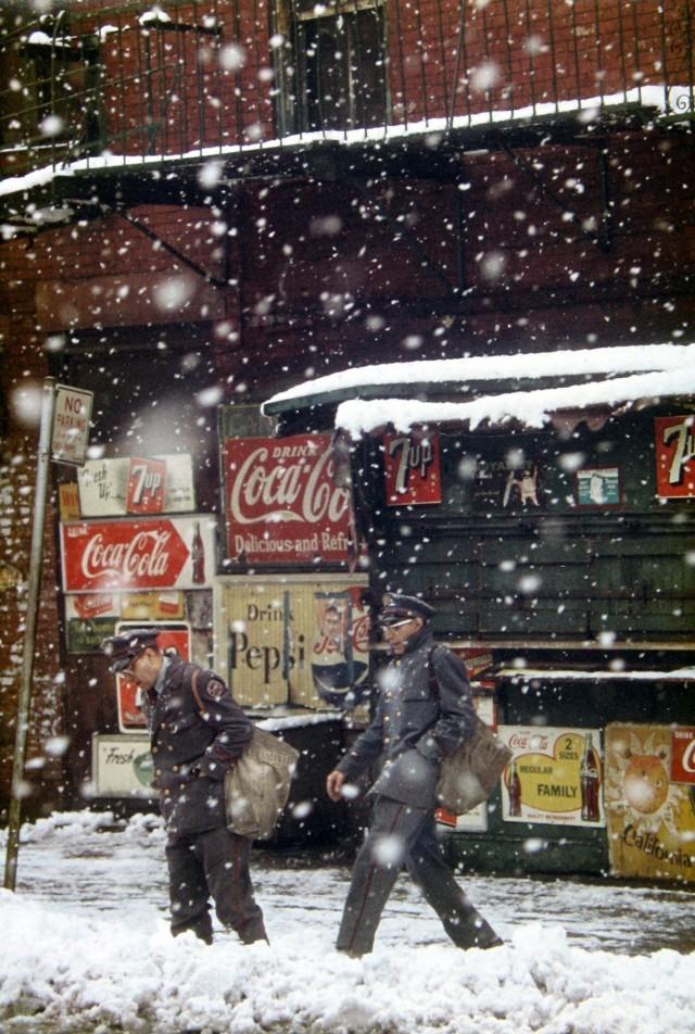Почтальоны, 1952. Фотограф Сол Лейтер