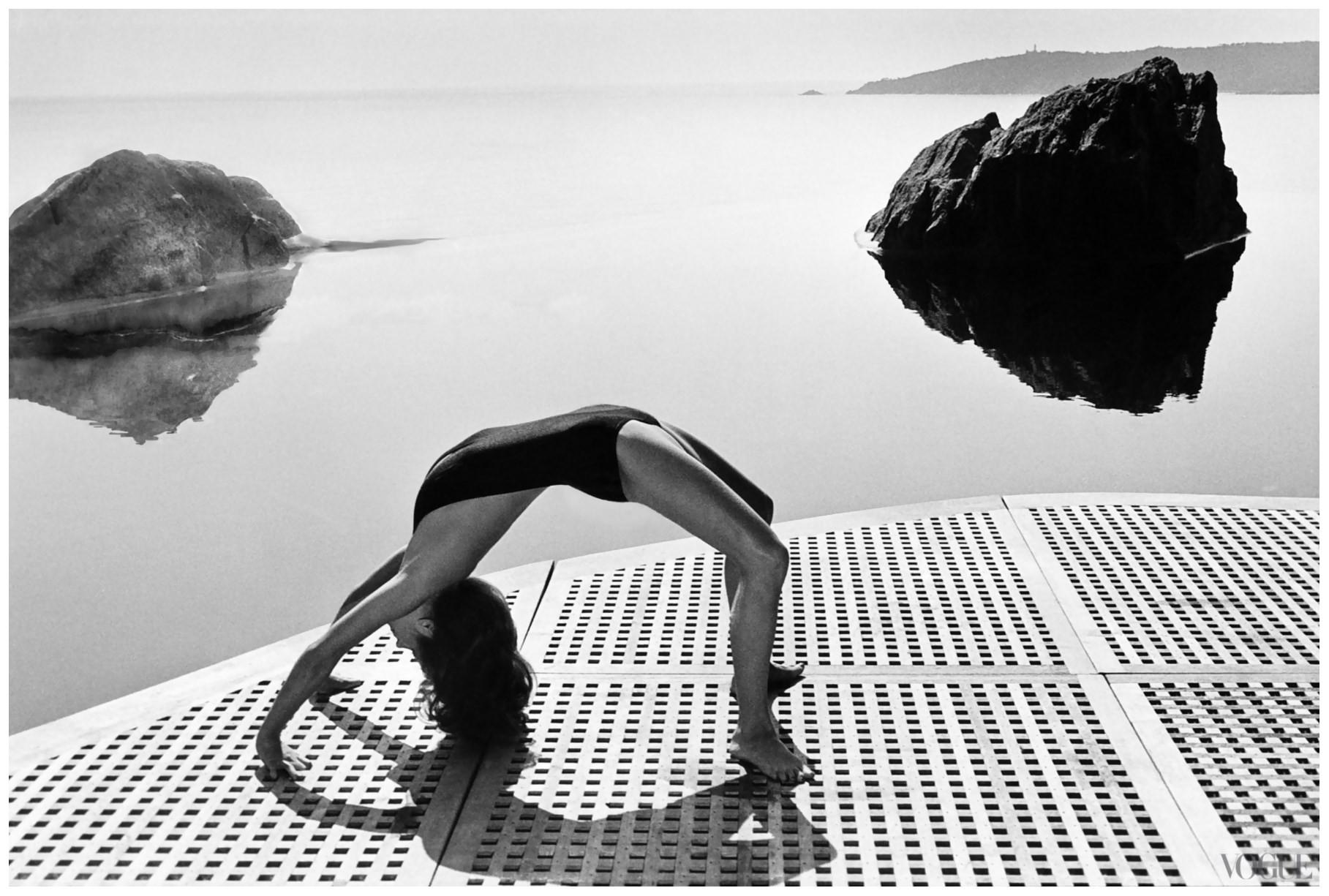 Шарлотта Рэмплинг для Vogue US, 1976. Фотограф Хельмут Ньютон
