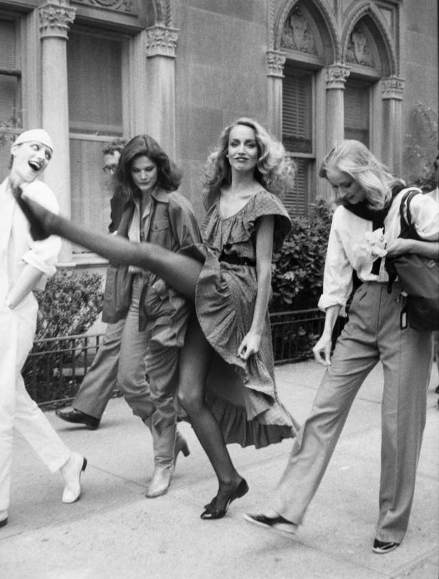 Джерри Холл, Нью-Йорк, около 1980. Фотограф Билл Каннингем