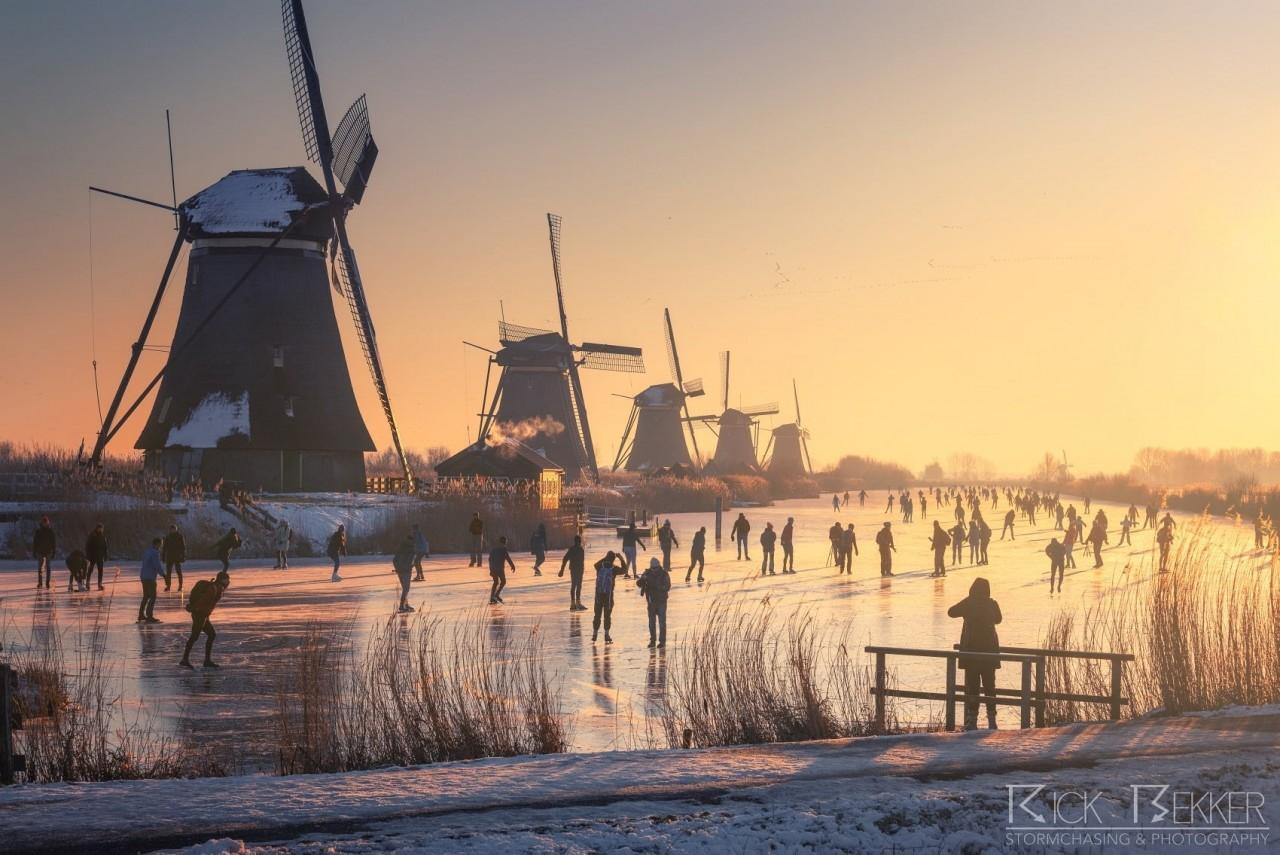 Утро в Нидерландах, февраль, 2021. Фотограф Рик Беккер