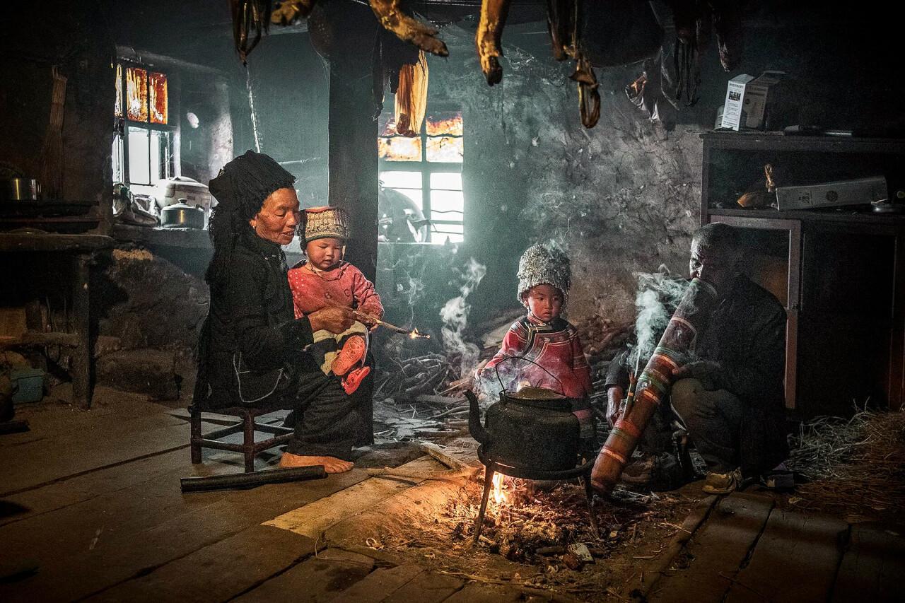 Семья в рисоводческой общине, Юаньян, Китай. Фотограф Fong Chan Onn