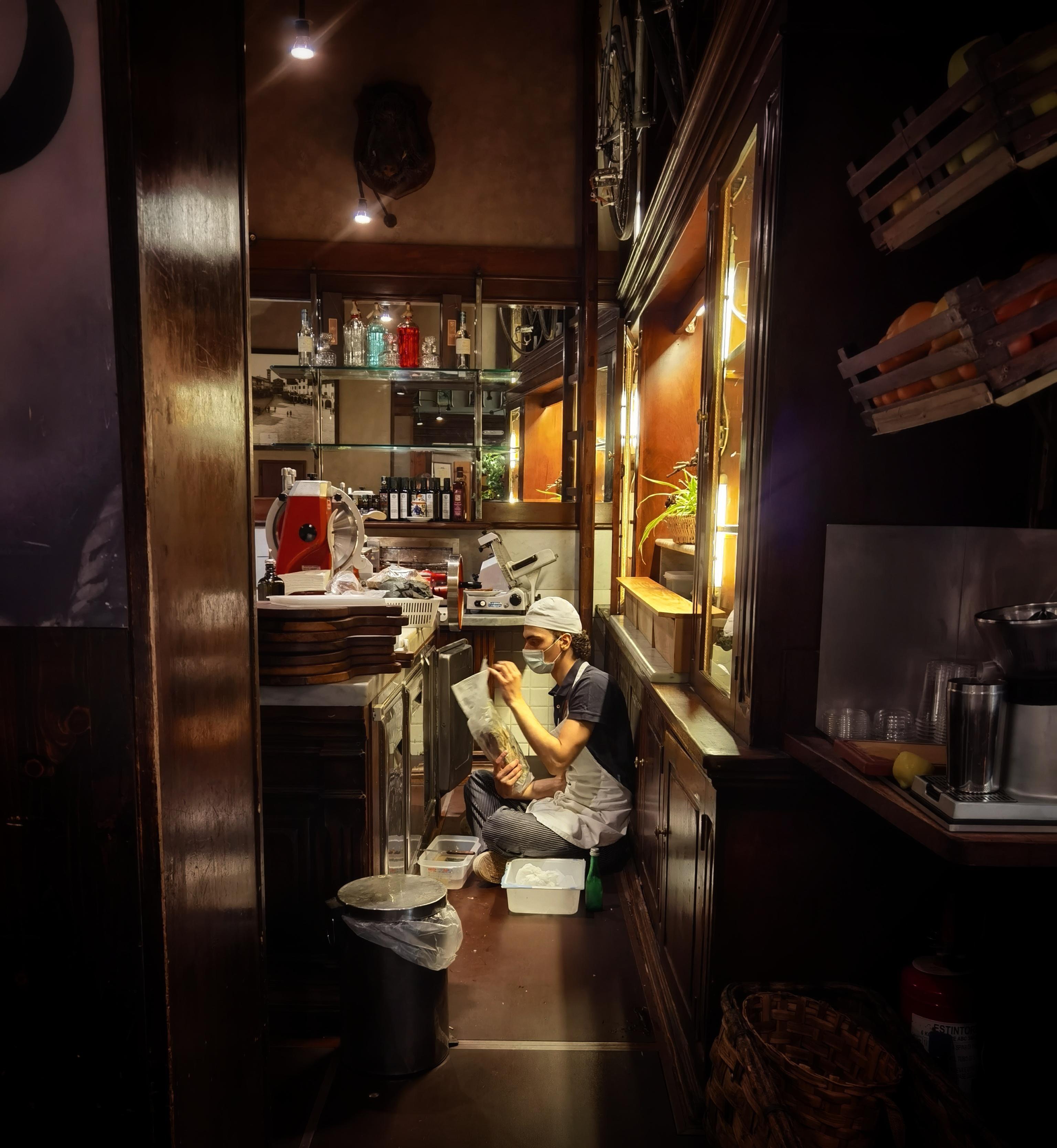 Кафе «Cantinetta Verrazzano» во Флоренции. Фотограф BalalaikaTheBear