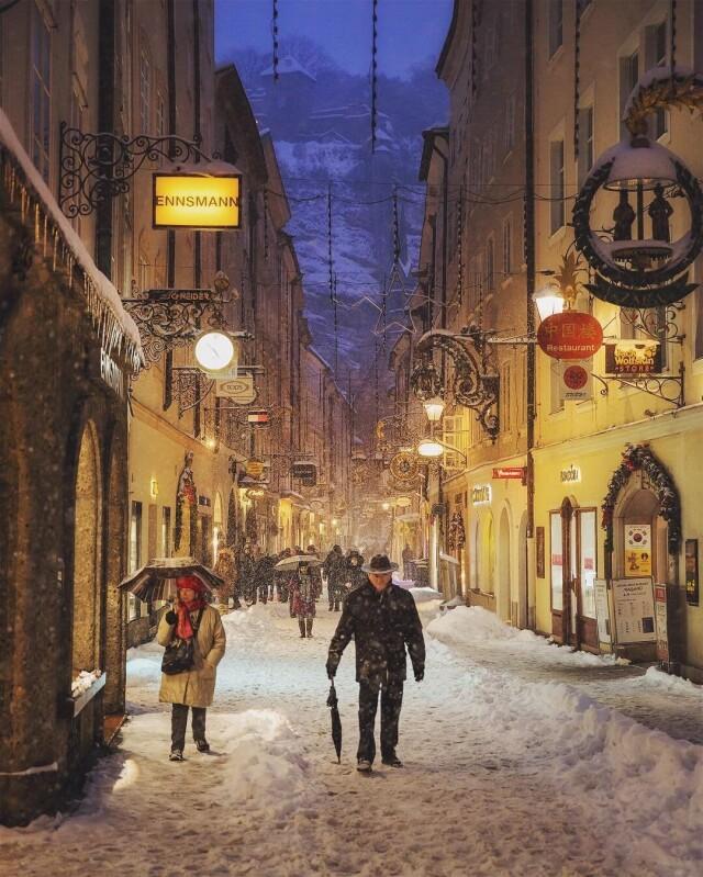 Старый город. Зальцбург, Австрия. Автор SpudlyAcorn