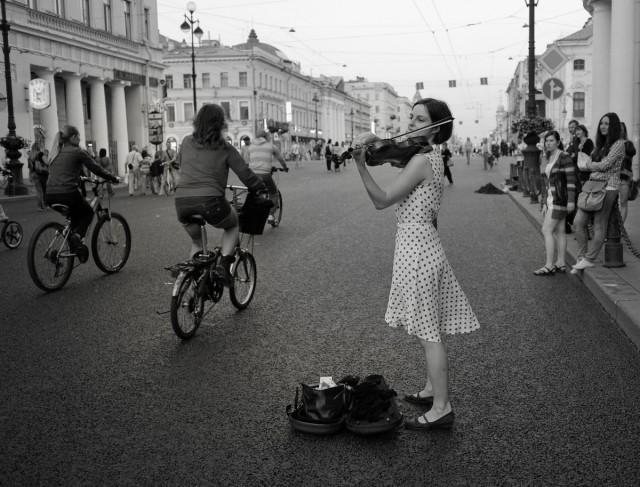White nights of St. Petersburg. Photographer Sergey Kolyaskin