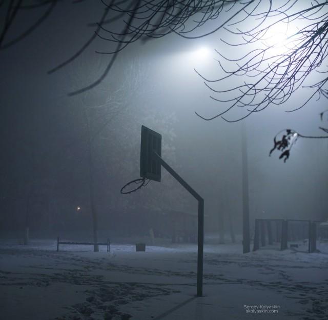 Smog in Chelyabinsk. Photographer Sergey Kolyaskin