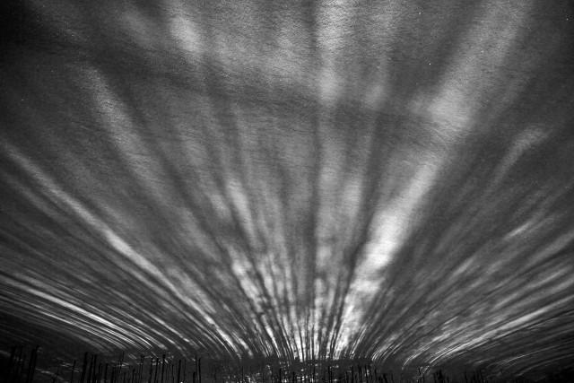 Black and white lines of snow. Photographer Sergey Kolyaskin