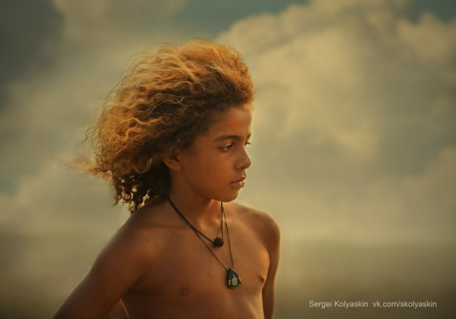 Boy with a lion's mane, India. Photographer Sergey Kolyaskin