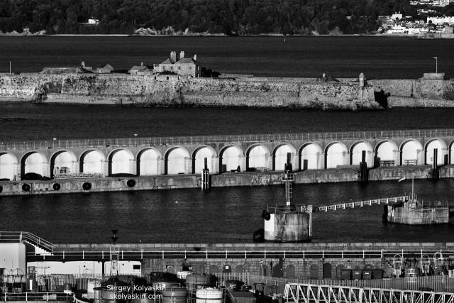 Port city graphics, Jersey, England. Photographer Sergey Kolyaskin