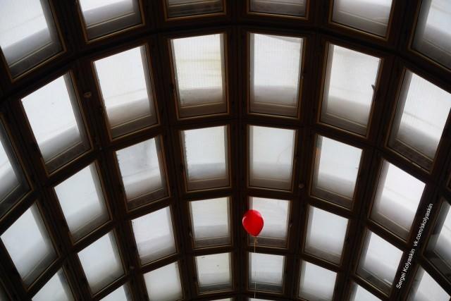 Красный шарик. Фотограф Сергей Коляскин