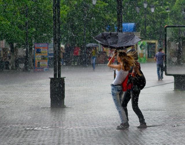 Летний дождь. Фотограф Сергей Коляскин