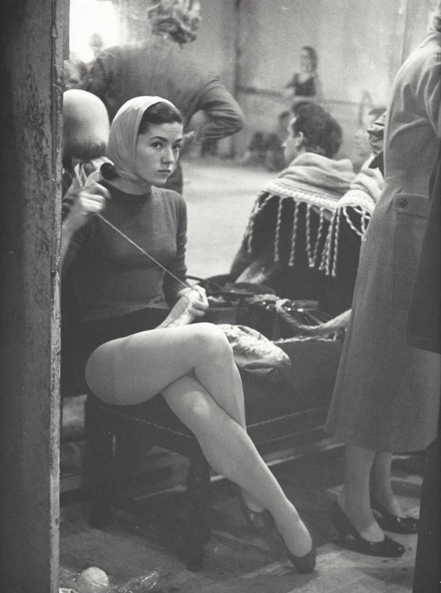 Балерина. Парижская опера, 1950-е. Фотограф Кис Шерер