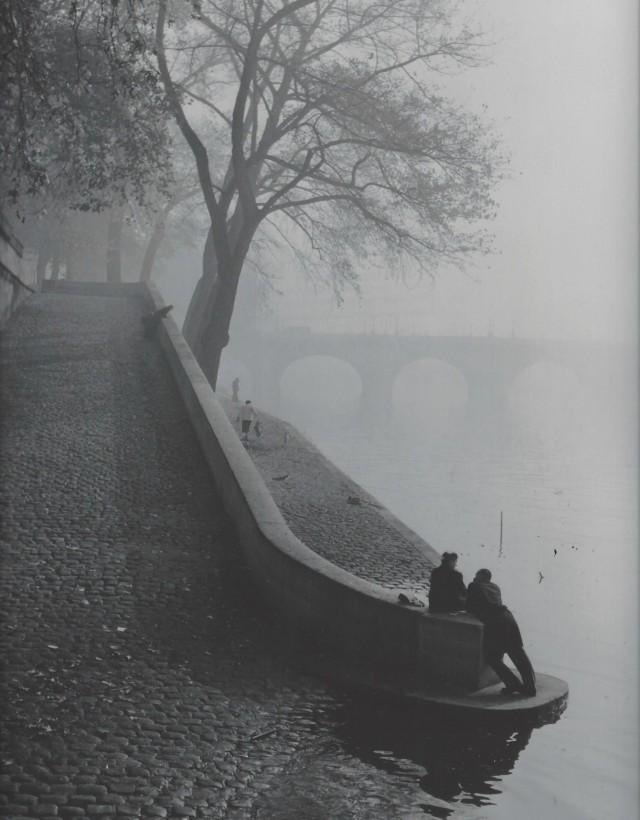 Сена в тумане, Париж, 1950-е. Фотограф Кис Шерер