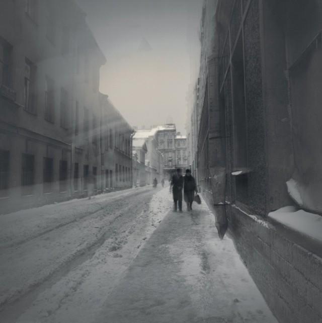 Пара, 1996. Чёрно-белая магия Санкт-Петербурга.  Фотограф Алексей Титаренко
