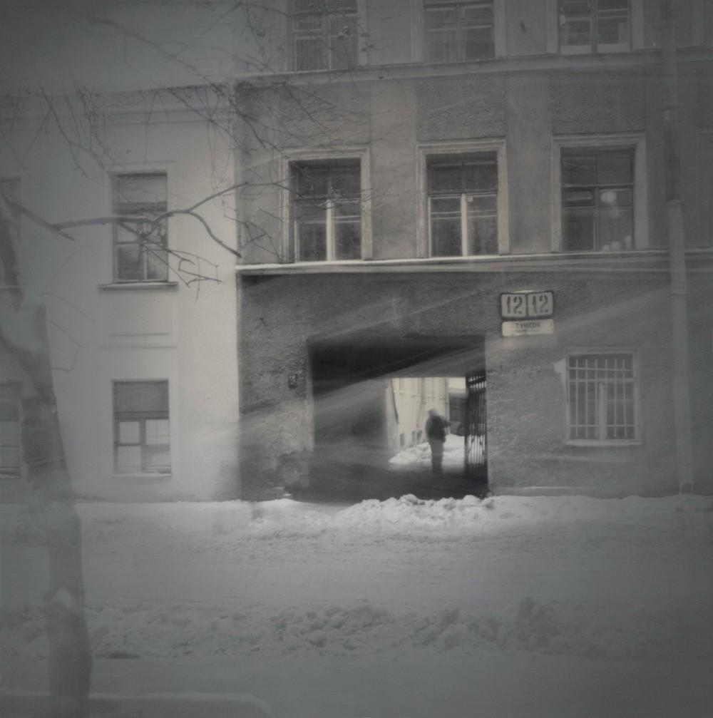 Тучков переулок, 1996. Чёрно-белая магия Санкт-Петербурга.  Фотограф Алексей Титаренко