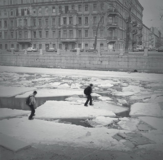 Ледоход, 2005. Санкт-Петербург. Фотограф Алексей Титаренко