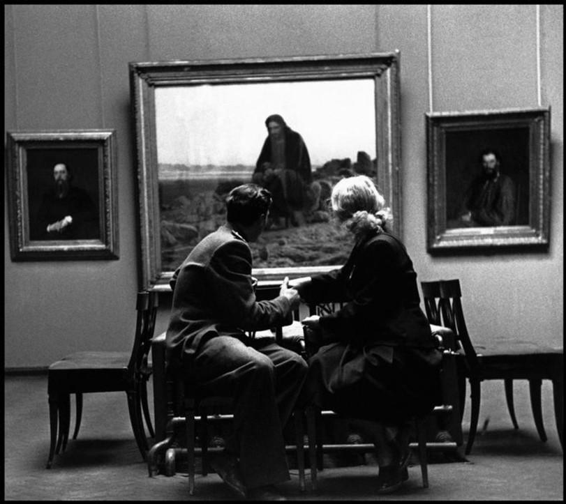 Третьяковская галерея, Москва, 1947. Фотограф Роберт Капа