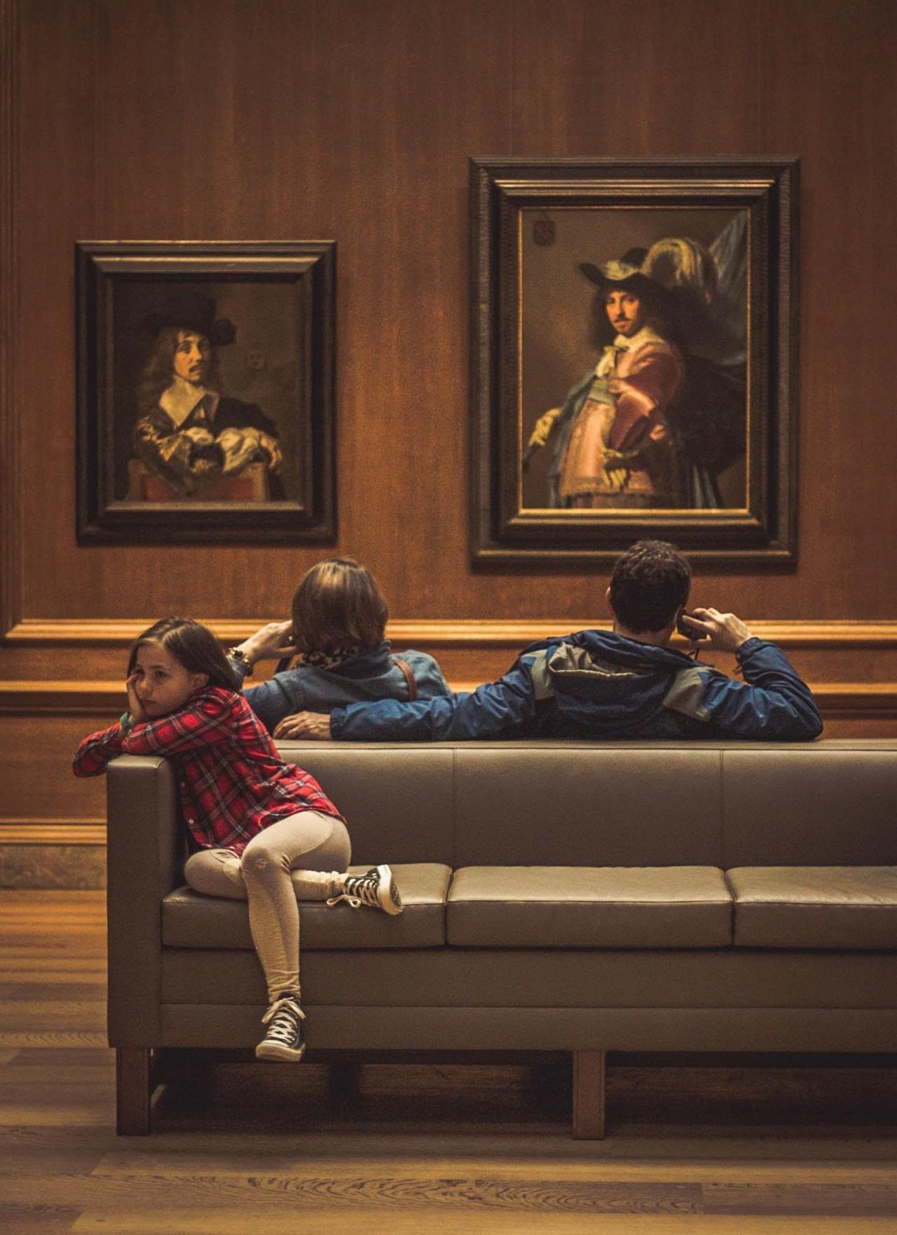 Досуг с родителями в Национальной галерее искусства в Вашингтоне. Фотограф Mate De Café