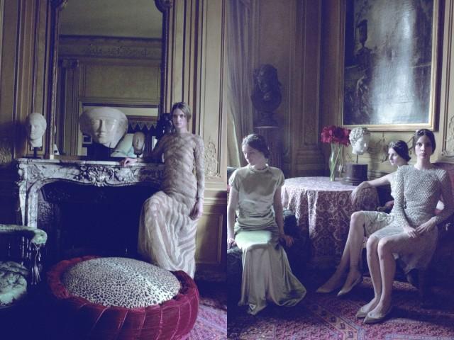 Модели Valentino, Vogue Italia, 2011. Фотограф Дебора Турбевилль