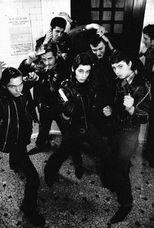 Рокеры из Сент-Пола. Франция, 1974 год. Фотограф Жан-Филипп Шарбонье