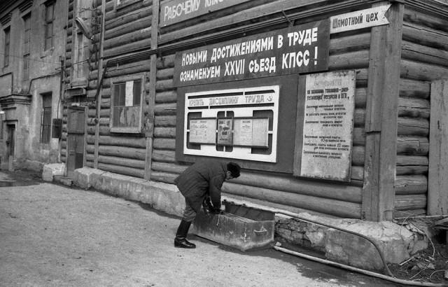 Шамотный цех. Кузнецкий металлургический комбинат, Новокузнецк, 1986. Фотограф Александр Бобкин