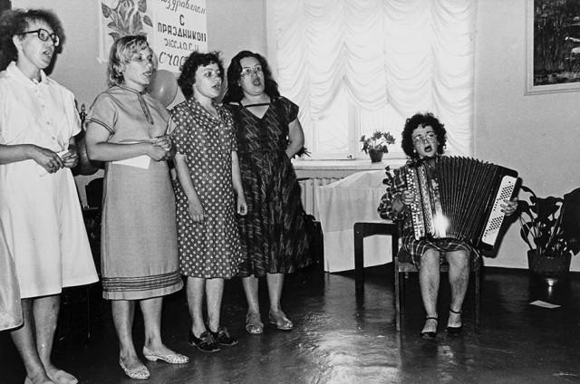 Праздник в больнице номер 12. Новокузнецк, 1987. Фотограф Александр Бобкин