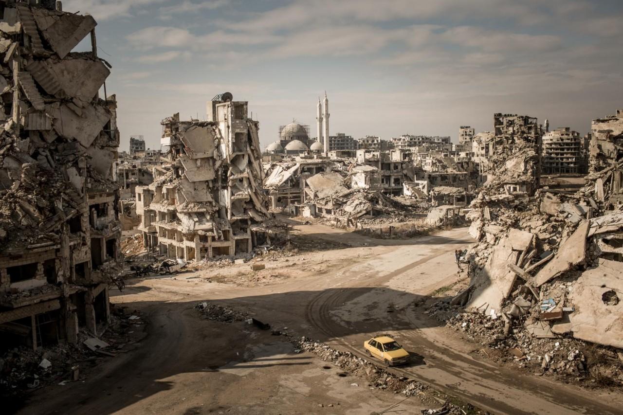 Руины в районе Халидия в городе Хомс, Сирия. Автор Кристиан Вернер