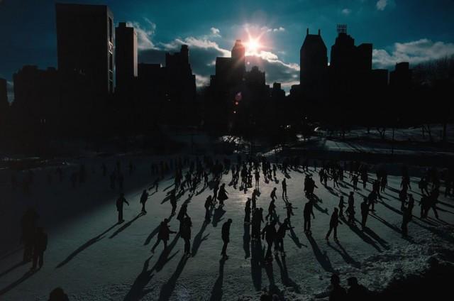 Каток в Центральном парке, Нью-Йорк. Фотограф Томас Хёпкер
