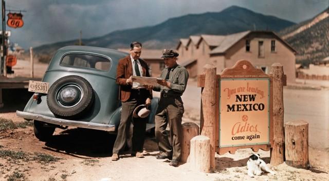 На границе Нью-Мексико, 1939. Фотограф Луис Марден
