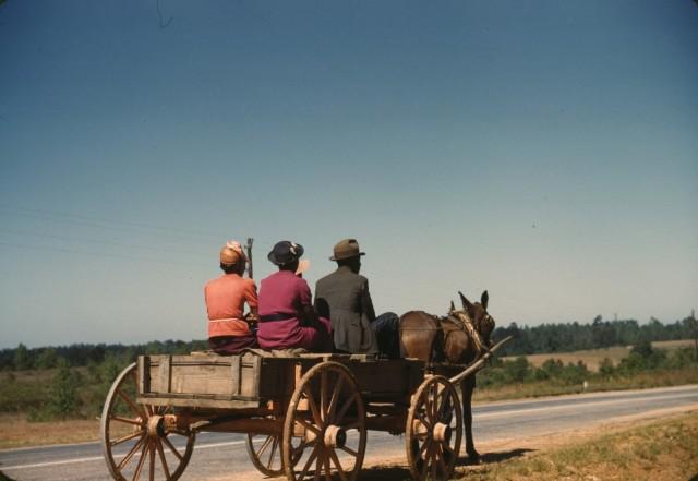 Субботняя поездка в город, округ Грин, штат Джорджия, 1941. Фотограф Джек Делано