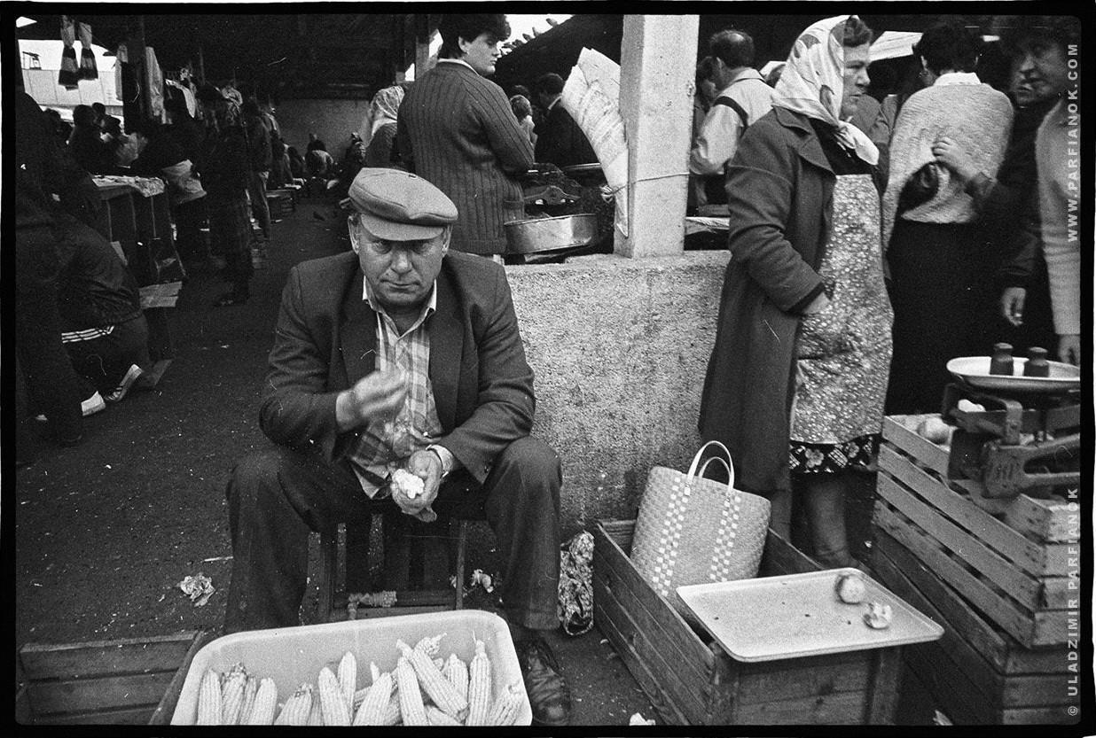 Комаровский рынок, Минск, 1988. Фотограф Владимир Парфенок