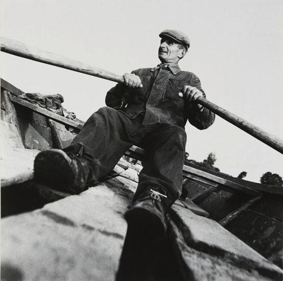 Перевозчик на Западной Двине. Браславский район, Белоруссия, 1984. Фотограф Евгений Козюля