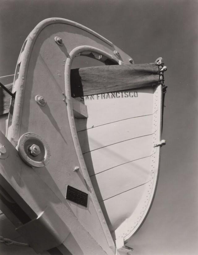 Спасательная шлюпка, 1931. Фотограф Уиллард Ван Дайк