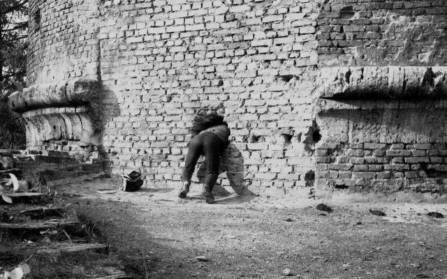 Стена. Шуваловский парк, Ленинград, 1970-е. Фотограф Сергей Подгорков