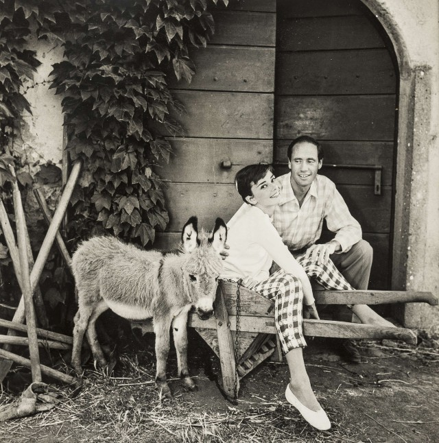 Одри Хепбёрн, Мел Феррер и ослик. Норман Паркинсон
