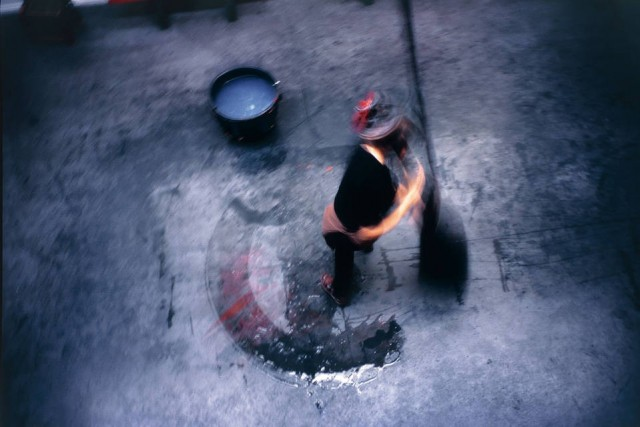 Фабьен Вердье в своей студии, 2007 год. Фотограф Долорес Марат