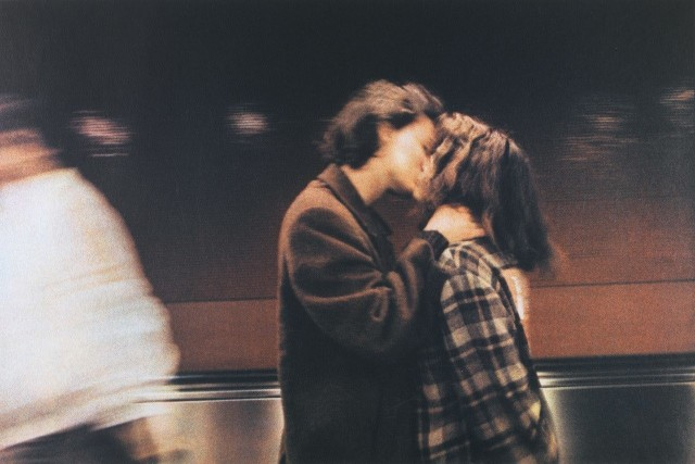 Пара в метро, Париж, 1986 год. Фотограф Долорес Марат