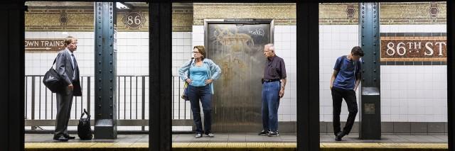 Из серии «Платформы». Станция Нью-Йоркского метрополитена «86-я улица». Фотограф Натан Двир