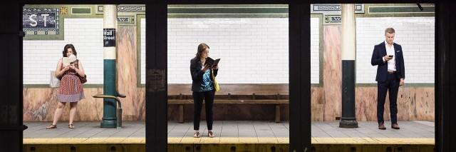 Из серии «Платформы». Уолл-стрит, Нью-Йорк. Фотограф Натан Двир
