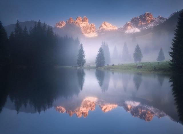 Утро на озере в Австрии. Автор Даниел Жежиха