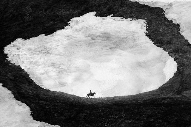 Одинокий всадник. Автор Михаил Потапов