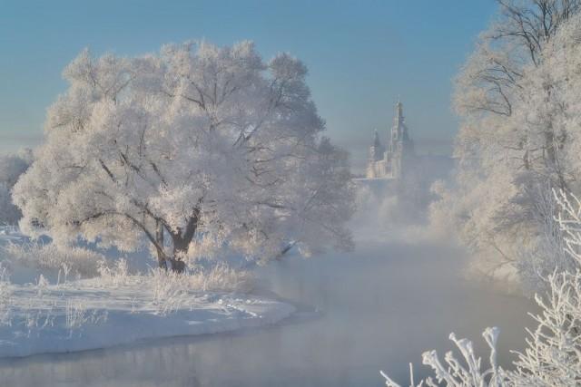 Белое утро зимы. Автор Владимир Романский