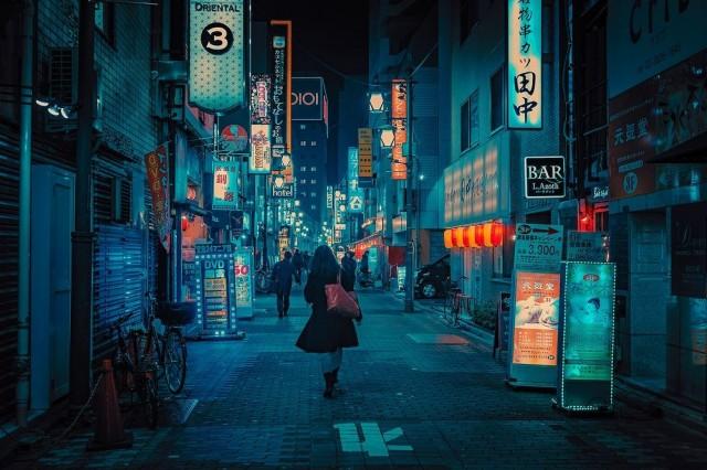 Вечерний город. Фотограф Энтони Пресли