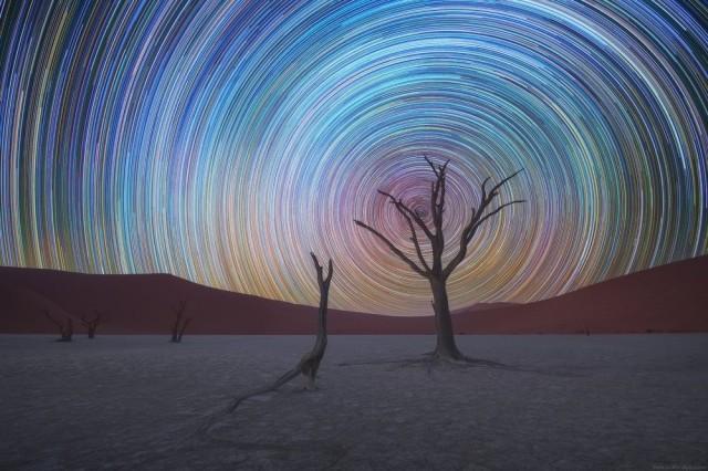 Ночной пейзаж, Намибия. Фотограф Даниил Коржонов