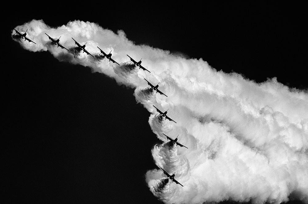 Синхронный полёт. Фотограф Джузеппе Галли